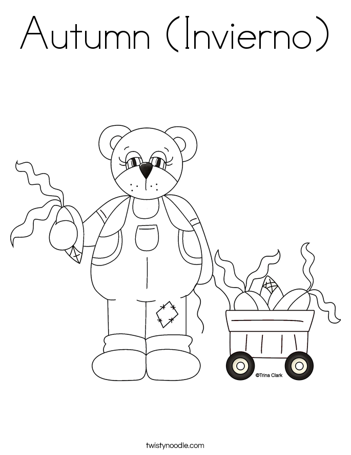 Autumn (Invierno) Coloring Page