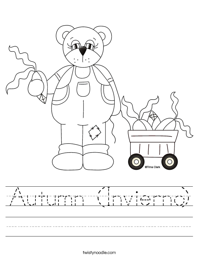 Autumn (Invierno) Worksheet