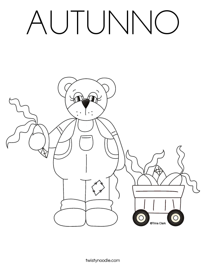 AUTUNNO Coloring Page