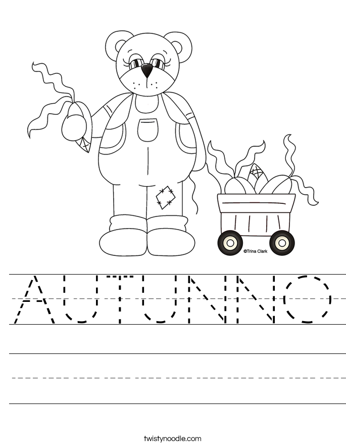 AUTUNNO Worksheet