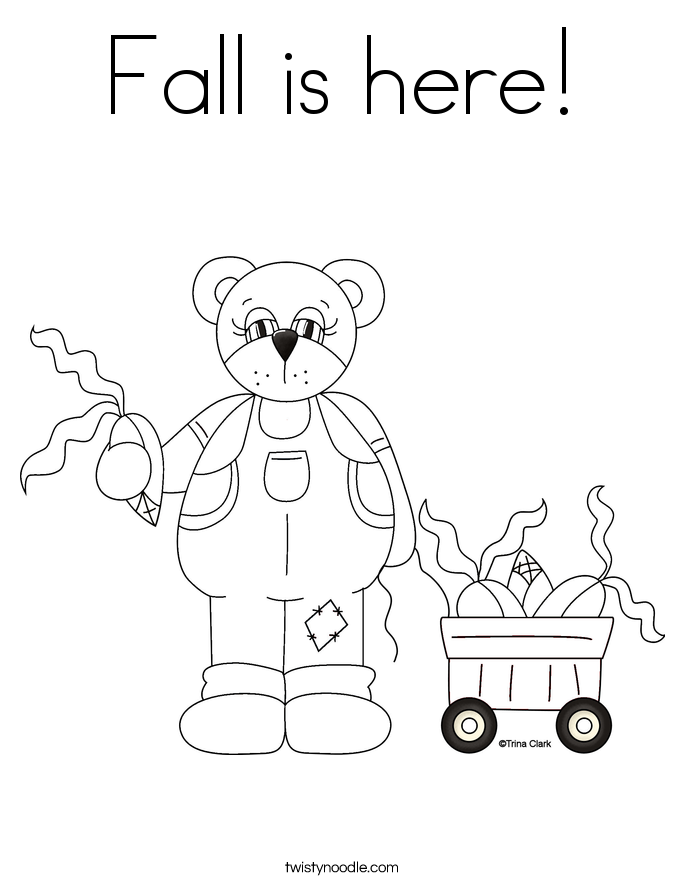 Fall is here! Coloring Page