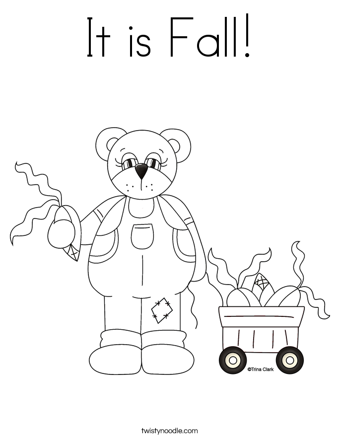 It is Fall! Coloring Page