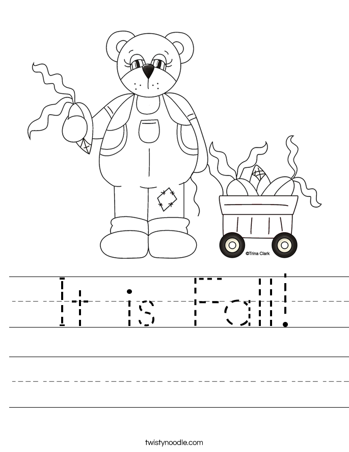 It is Fall! Worksheet