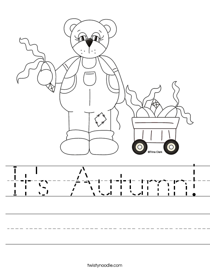 It's Autumn! Worksheet