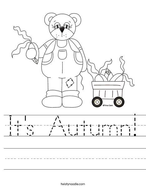 Number Names Worksheets autumn worksheet : It's Autumn Worksheet - Twisty Noodle
