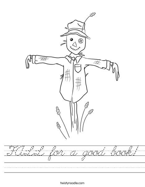 Harvest Hollow Scarecrow Worksheet