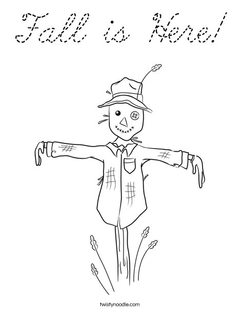 Harvest Hollow Scarecrow Coloring Page