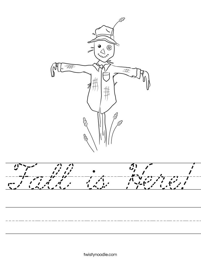 Fall is Here! Worksheet