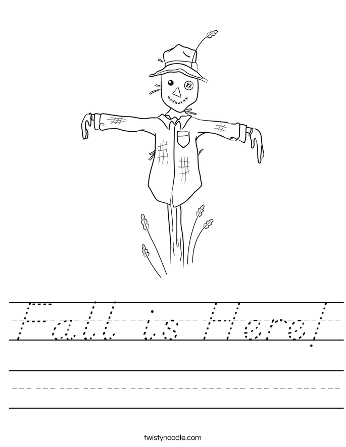 Fall is Here! Worksheet
