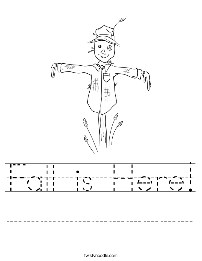 Fall is Here Worksheet - Twisty Noodle