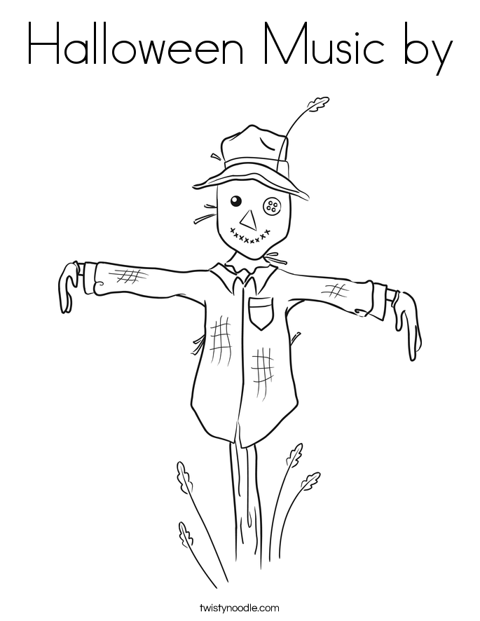 Halloween Music by Coloring Page