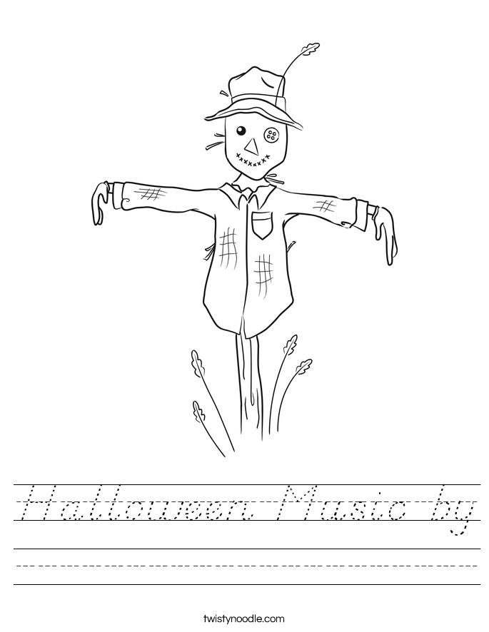 Halloween Music by Worksheet