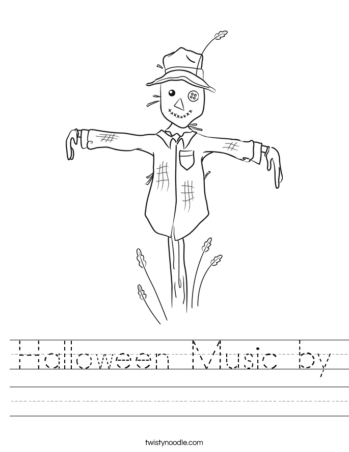 Halloween Music by Worksheet