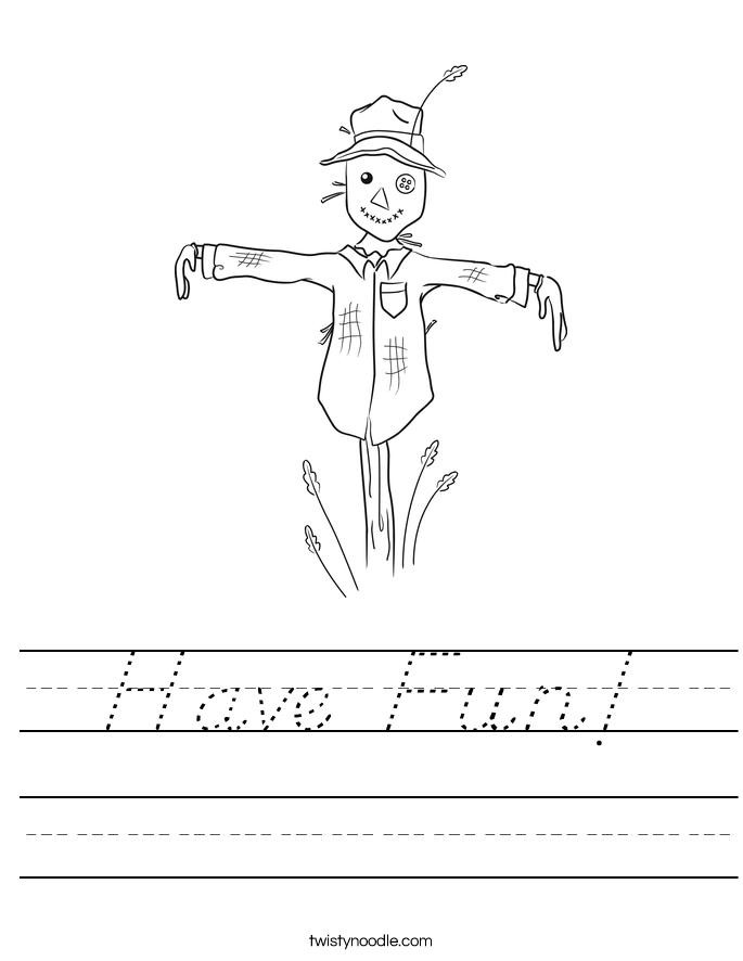 Have Fun! Worksheet