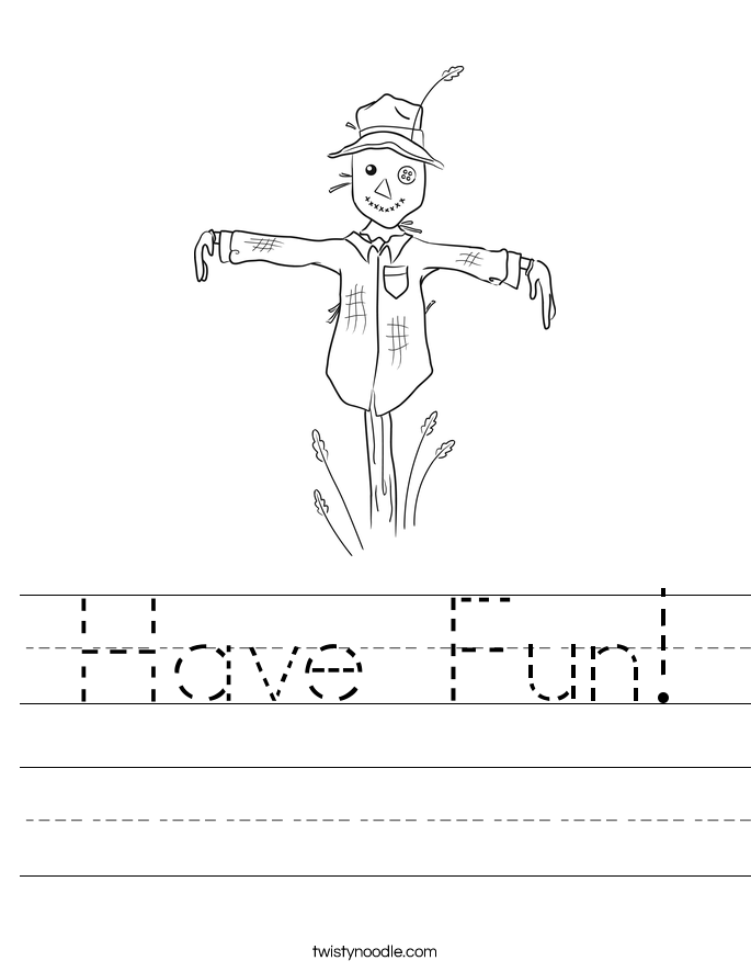 Have Fun! Worksheet