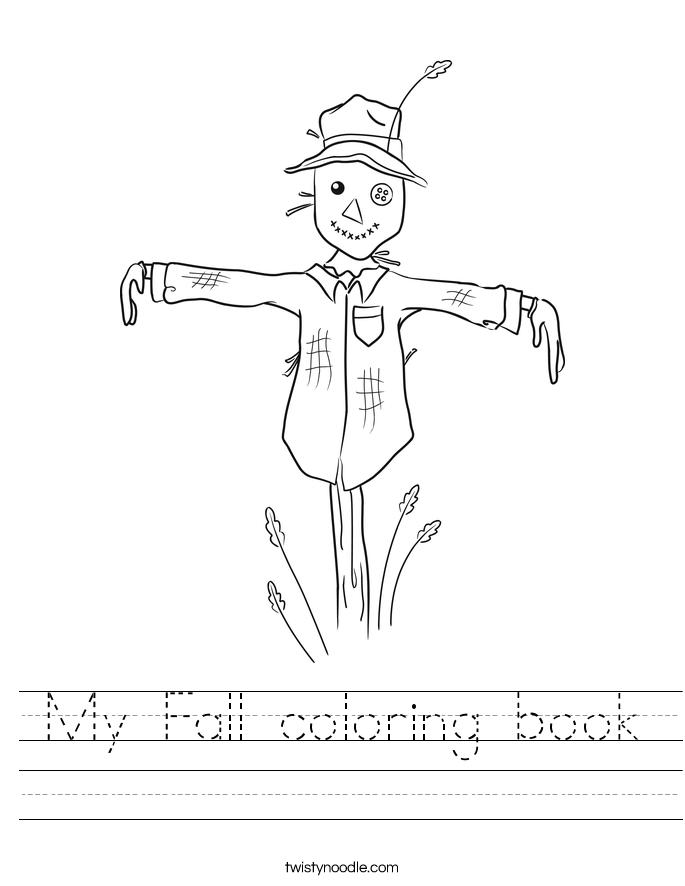 My Fall coloring book Worksheet