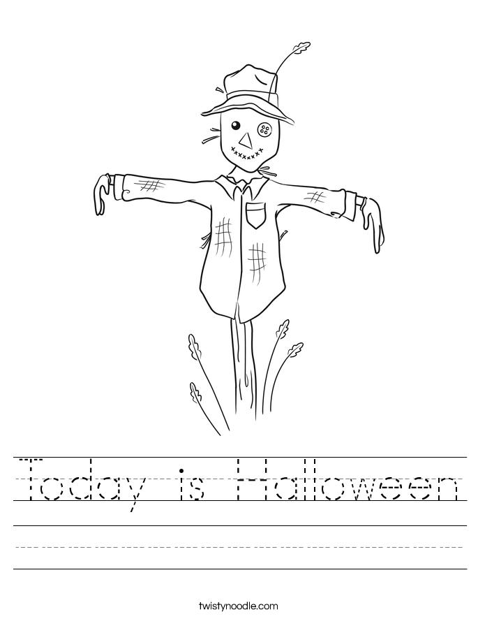 Today is Halloween Worksheet