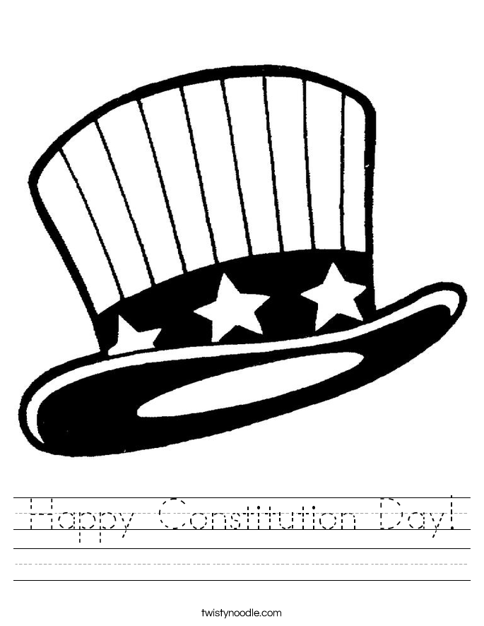 Happy Constitution Day! Worksheet