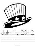 July 4, 2012 Worksheet
