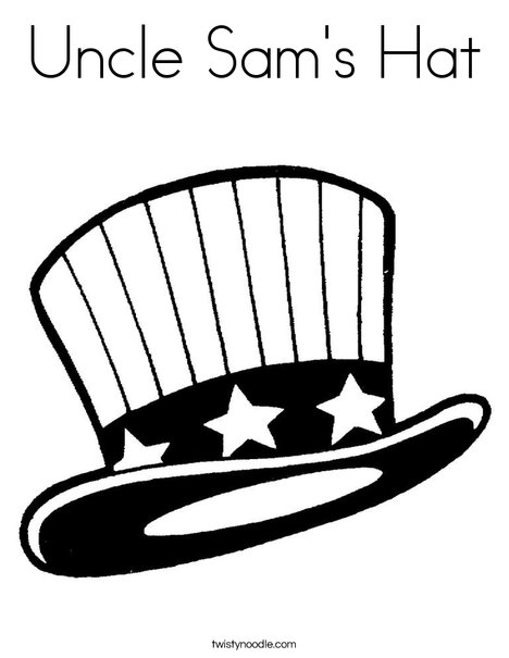 Uncle Sams Hat Coloring Page