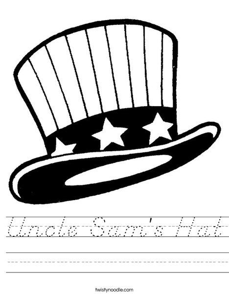 Uncle Sam's Hat Worksheet