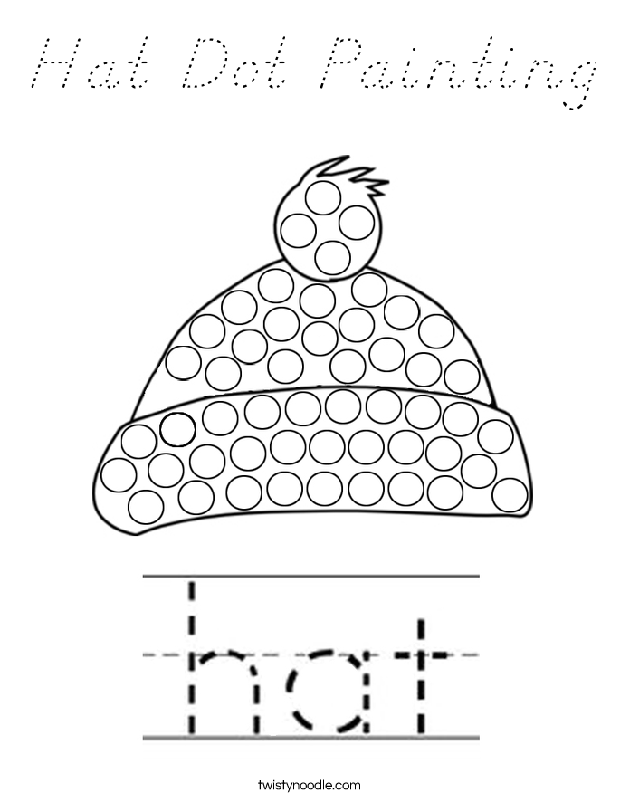 Hat Dot Painting Coloring Page