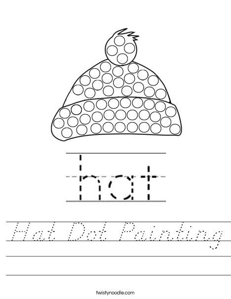 Hat Dot Painting Worksheet