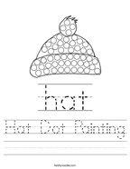 Hat Dot Painting Handwriting Sheet