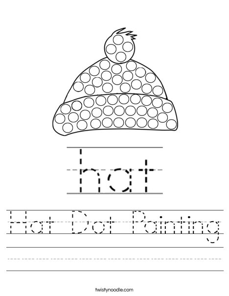 Hat Dot Painting Worksheet