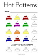 Hat Patterns Coloring Page