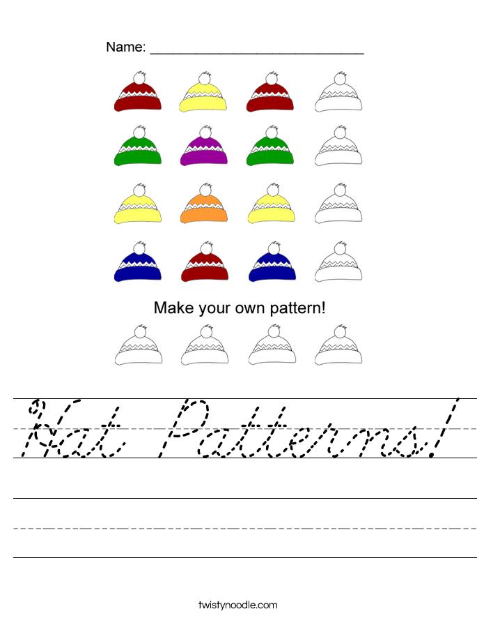Hat Patterns! Worksheet