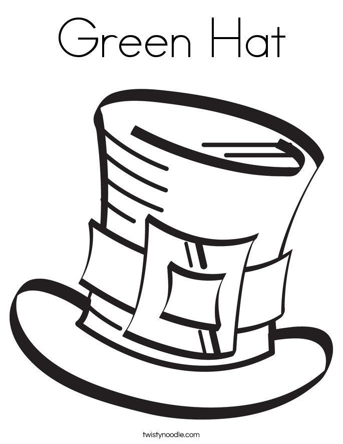 Green Hat Coloring Page