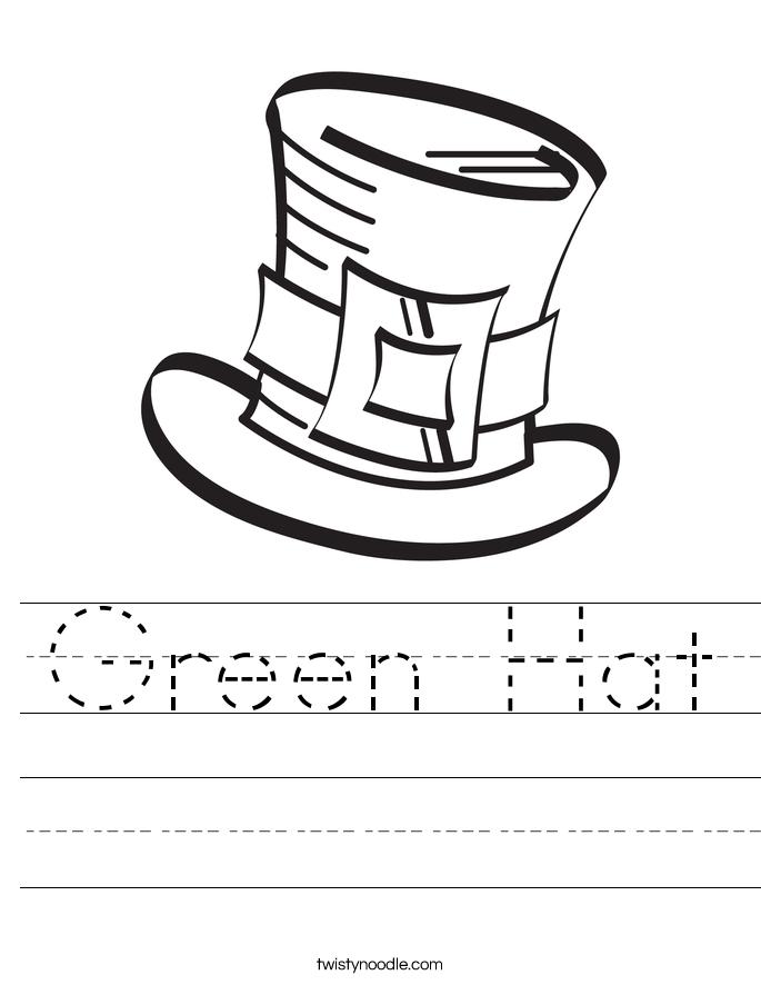 Green Hat Worksheet