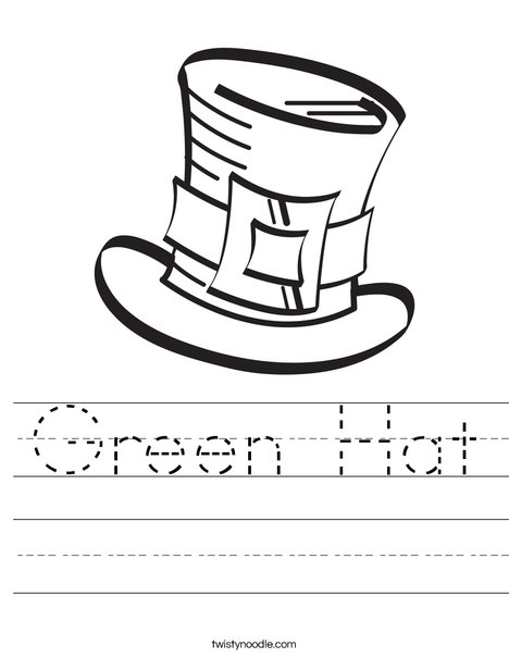 Leprechaun's Hat Worksheet