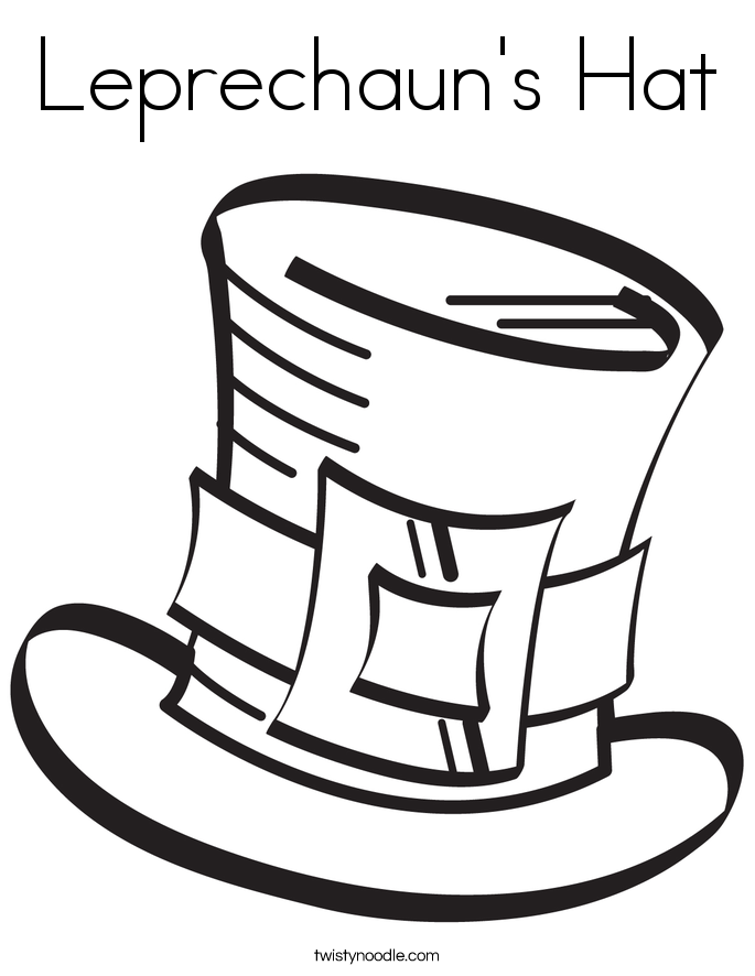 Leprechaun Hats Coloring Pages Leprechaun's Hat Coloring