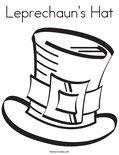 Leprechaun's HatColoring Page