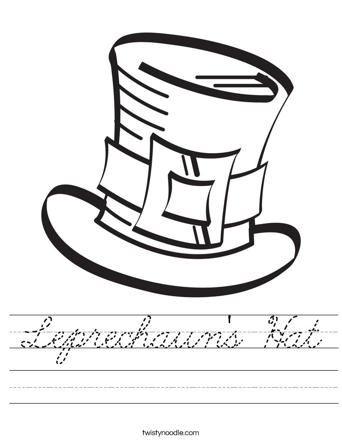 Leprechaun's Hat Worksheet