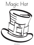 Magic HatColoring Page