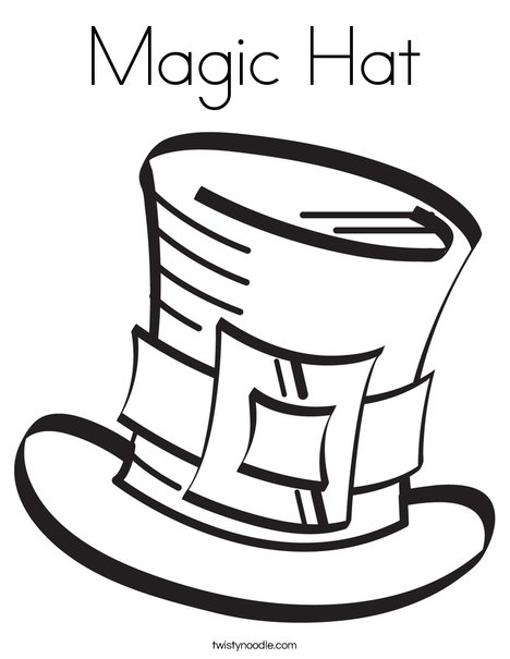 magic hat coloring page twisty noodle