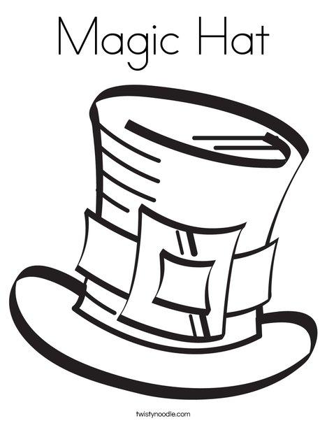 magic hat coloring page twisty noodle