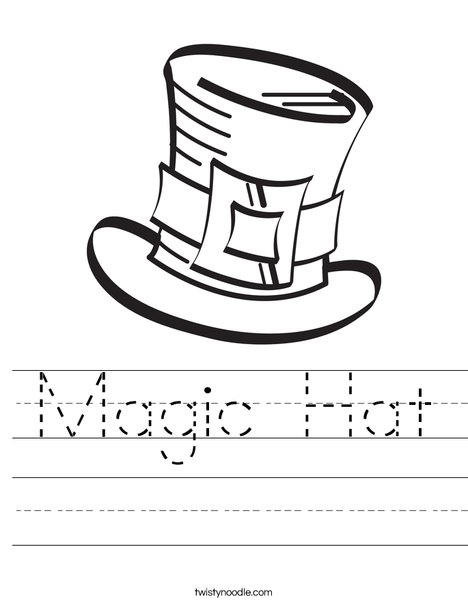 Magic Hat Worksheet