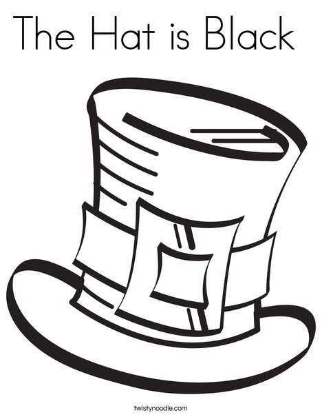 Leprechaun's Hat Coloring Page