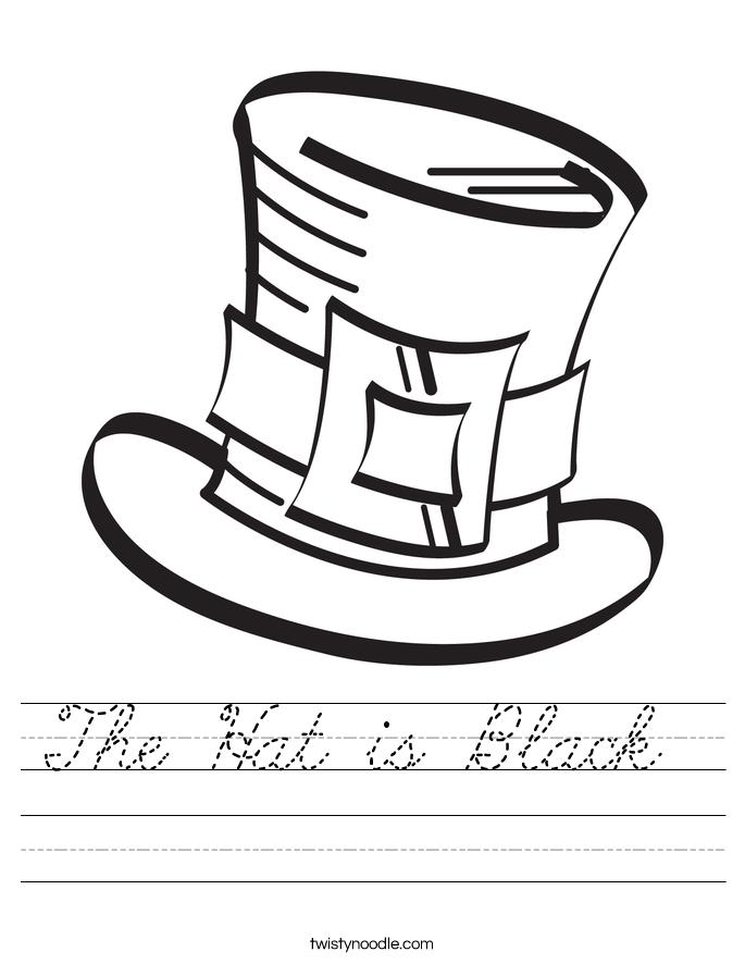The Hat is Black  Worksheet