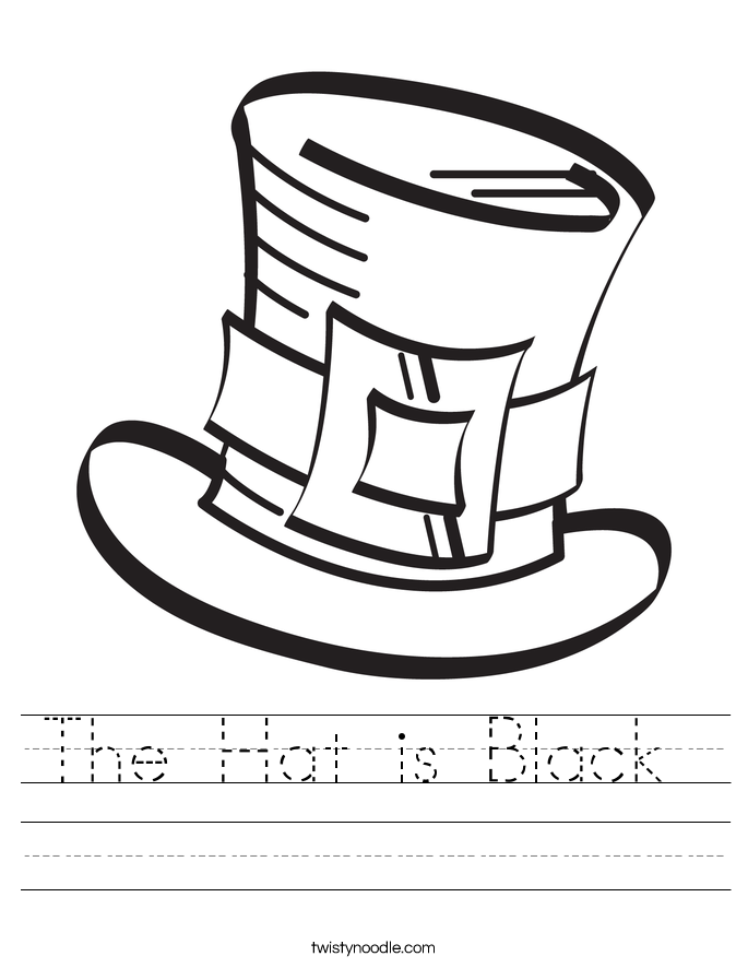 The Hat is Black  Worksheet