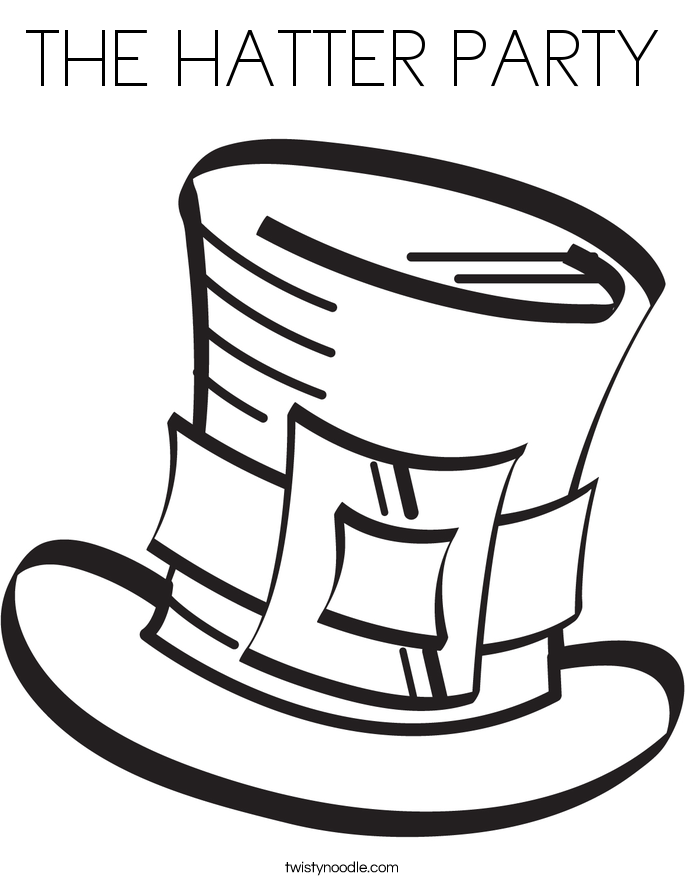 THE HATTER PARTY Coloring Page
