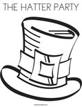 THE HATTER PARTYColoring Page