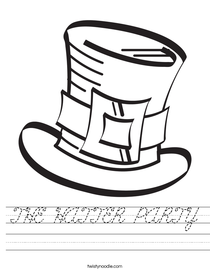 THE HATTER PARTY Worksheet