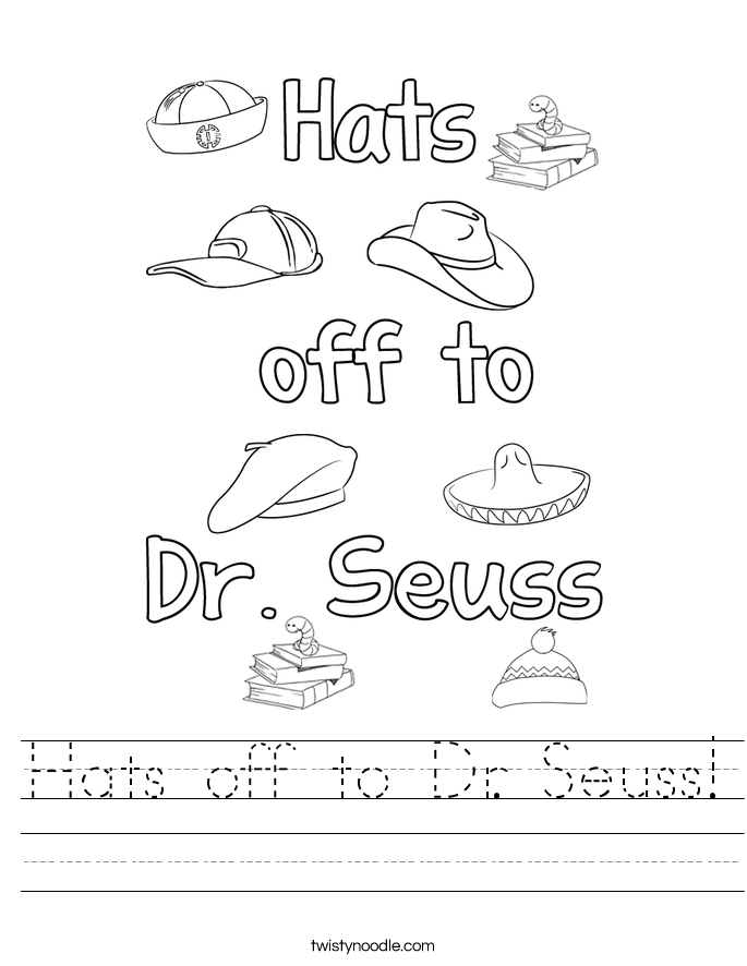 Hats off to Dr. Seuss! Worksheet