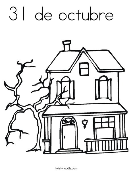 Haunted Castle Coloring Page