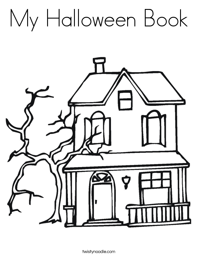 My Halloween Book Coloring Page